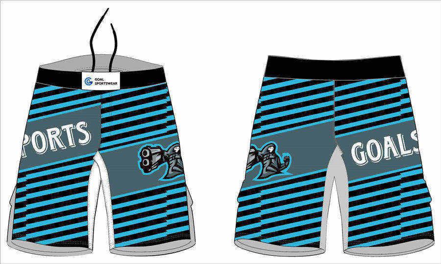 Dye sublimation printing custom design full polyester wrestling fight shorts