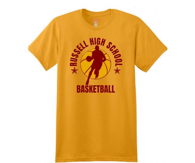High school basket ball t shirt