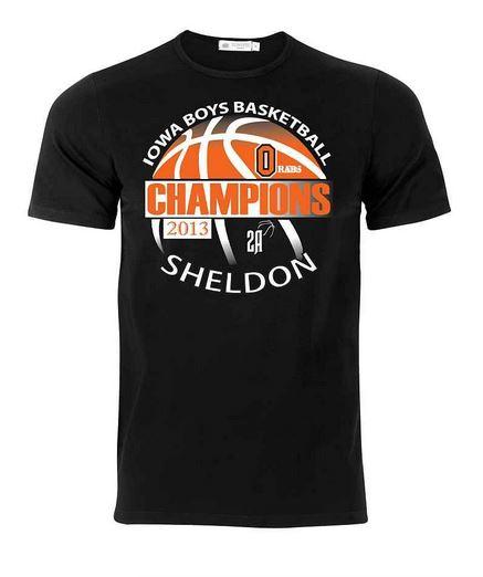 High school basketball team shirt