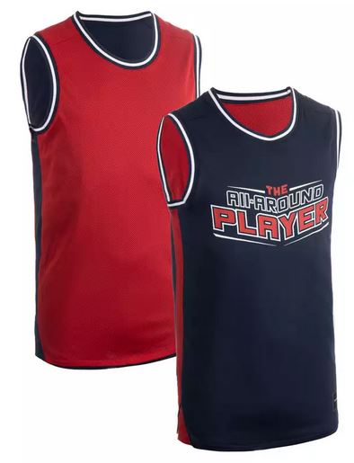 Reversible basket ball jersey
