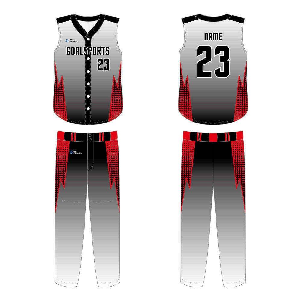 Full Sublimated custom made mens team Custom Sleeveless Baseball Jerseys