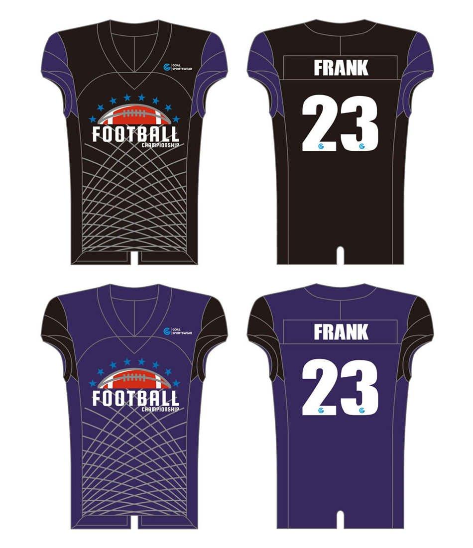 Full Sublimated custom made mens team Reversible Football Jerseys