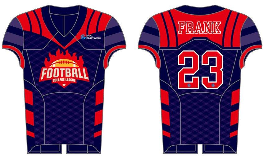 Full Sublimated custom made mens team custom college football jersey