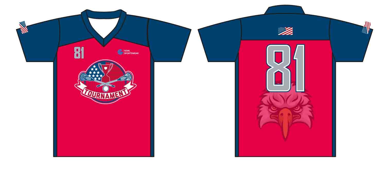 Full Sublimated custom made mens team Custom lacrosse Shirts
