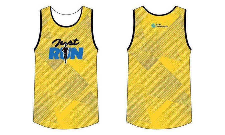 Full Sublimated custom made mens team sublimated running shirts