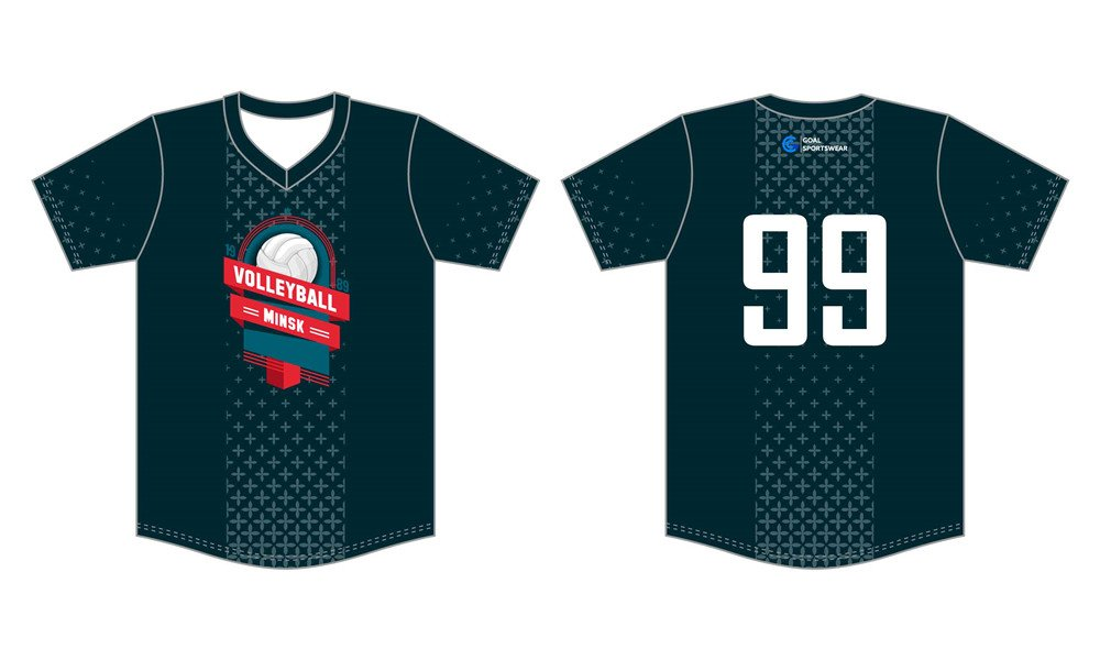Full Sublimated custom made mens team sublimated volleyball jerseys