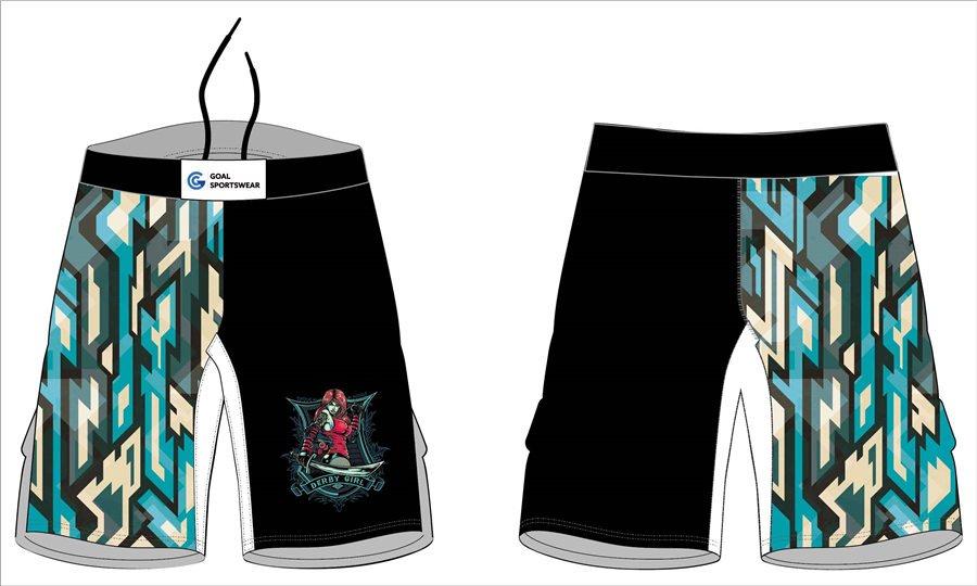 Full Sublimated custom made mens team wrestling fight shorts