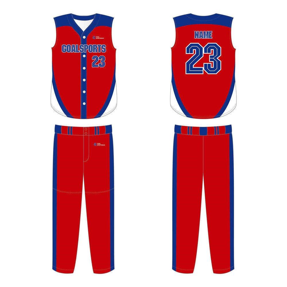 Full dye sublimation printing custom made team Custom Sleeveless Baseball Jerseys