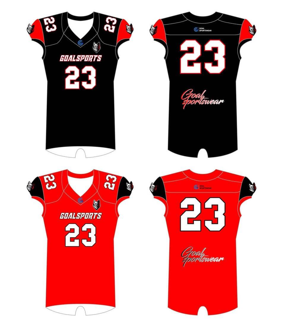 Full dye sublimation printing custom made team Reversible Football Jerseys