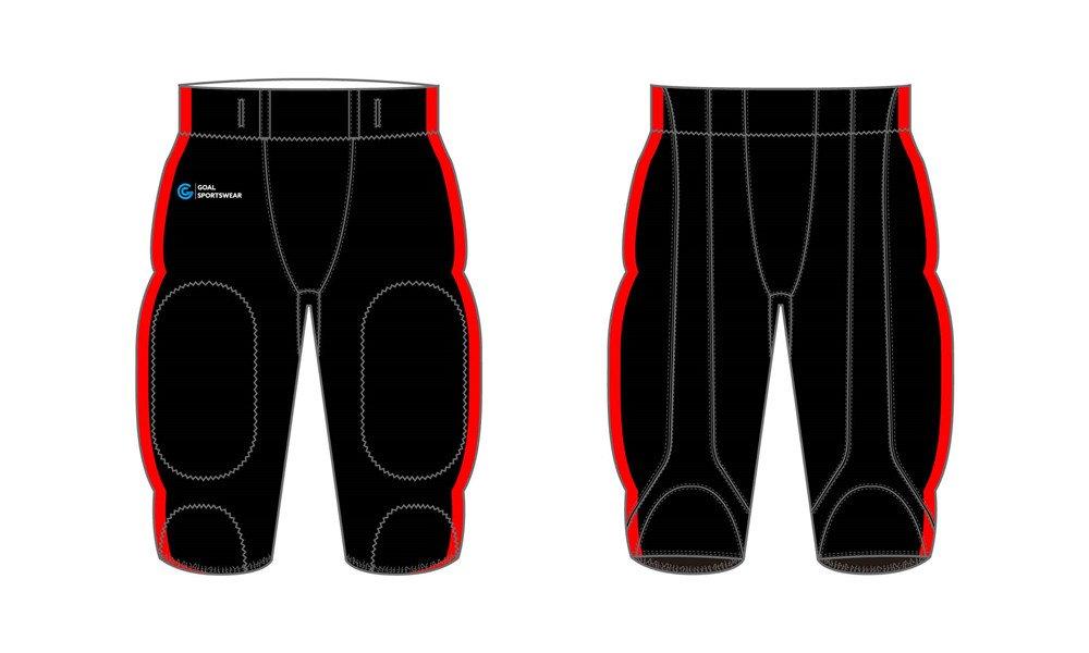 Full dye sublimation printing custom made team Sublimated Football Pants