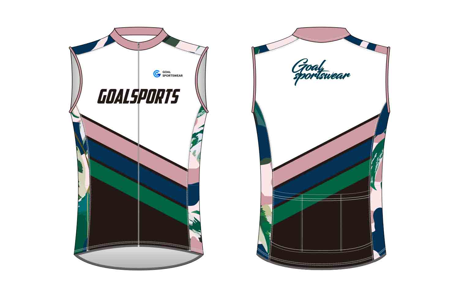 Full dye sublimation printing custom made team custom Cycling Vest