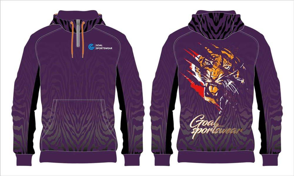 Full dye sublimation printing custom made team custom lacrosse hoodies