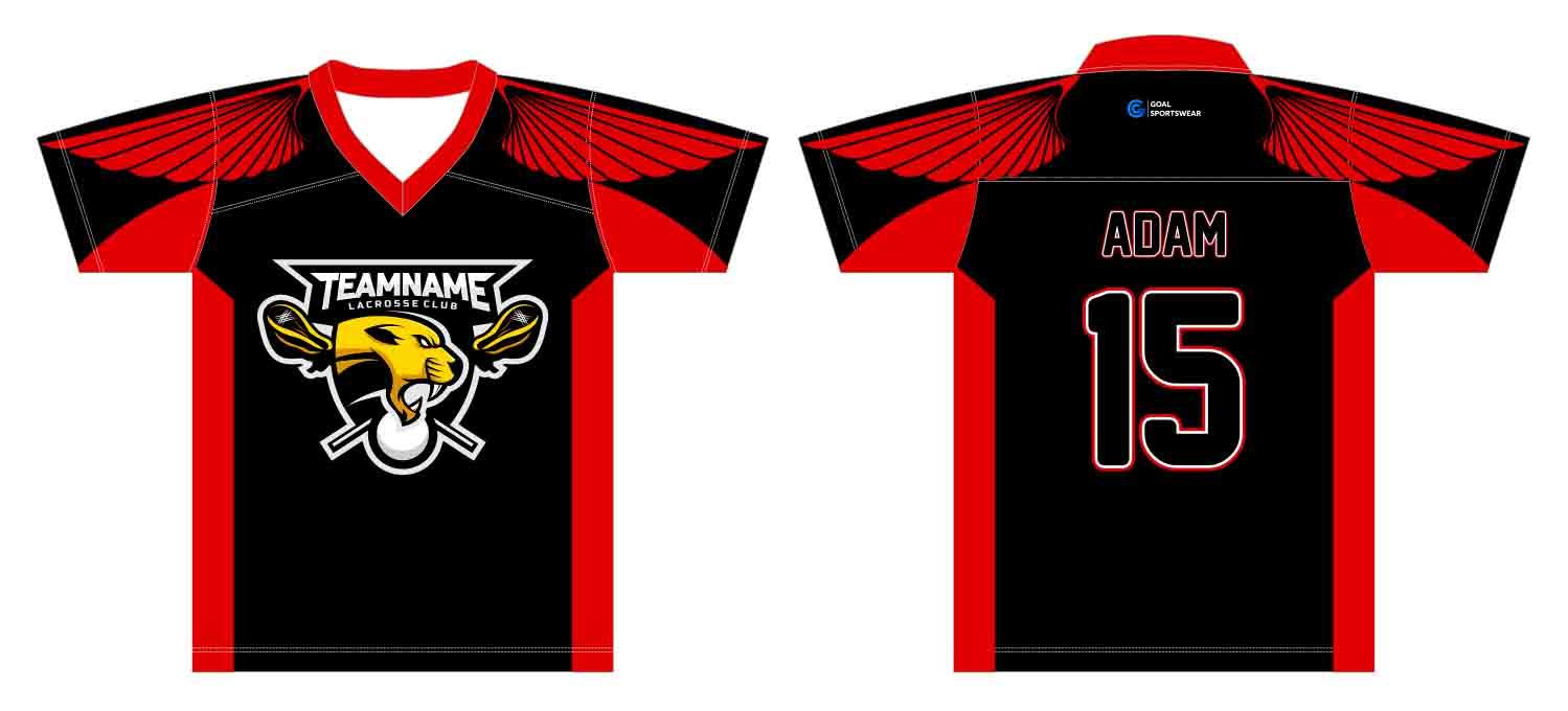 Full dye sublimation printing custom made team custom lacrosse shirts