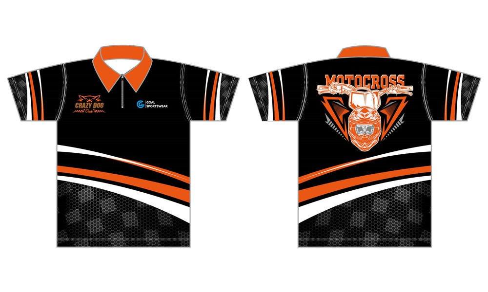 Full dye sublimation printing custom made team custom pit crew shirts