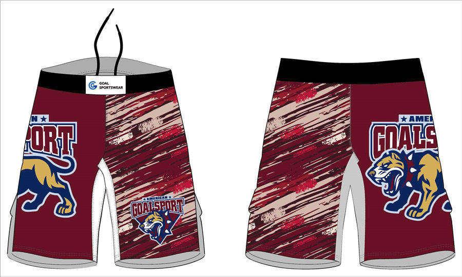 Full dye sublimation printing custom made team wrestling fight shorts