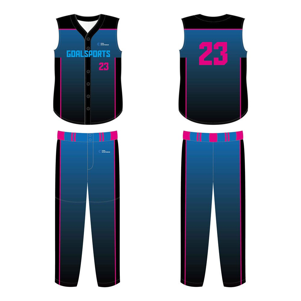 Full dye sublimation wholesale custom Custom Sleeveless Baseball Jerseys