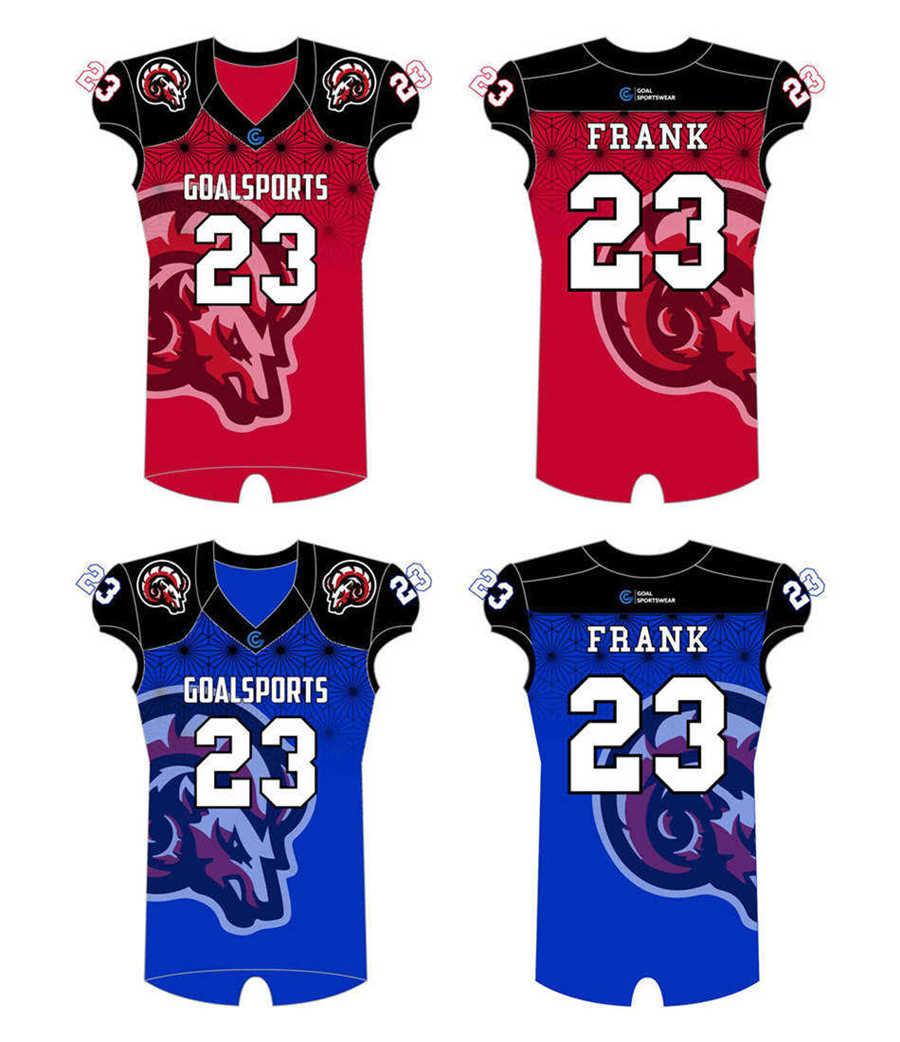 Full dye sublimation wholesale custom Reversible Football Jerseys