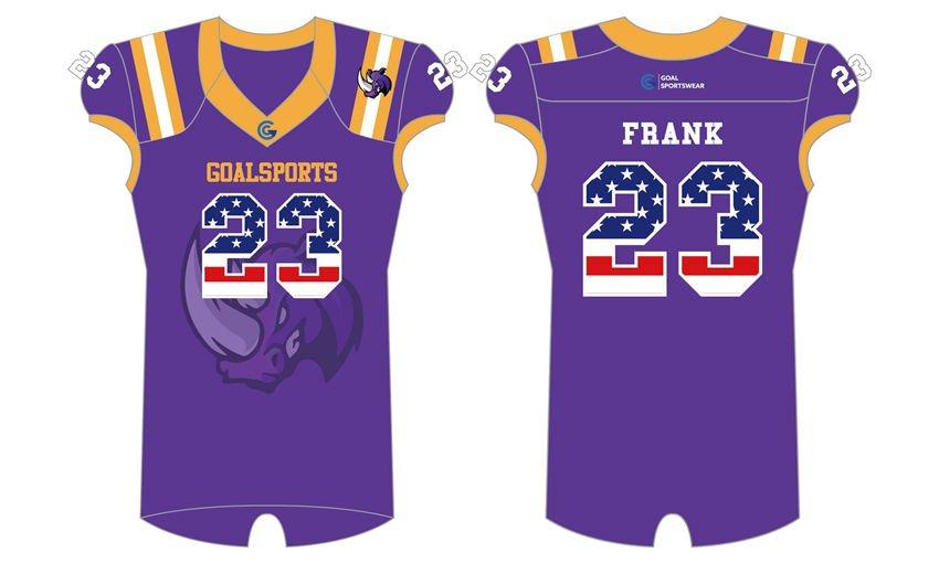 Full dye sublimation wholesale custom Sublimated Flag Football Jerseys