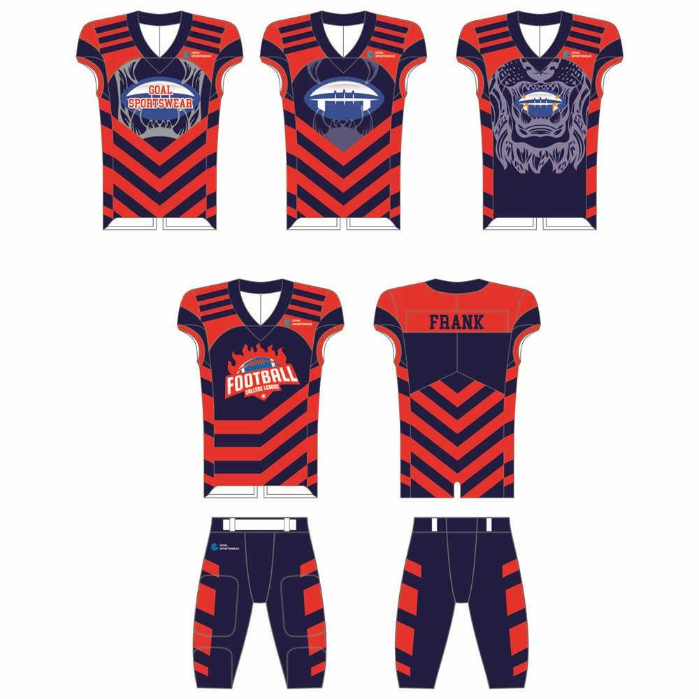 Full dye sublimation wholesale custom custom football uniforms