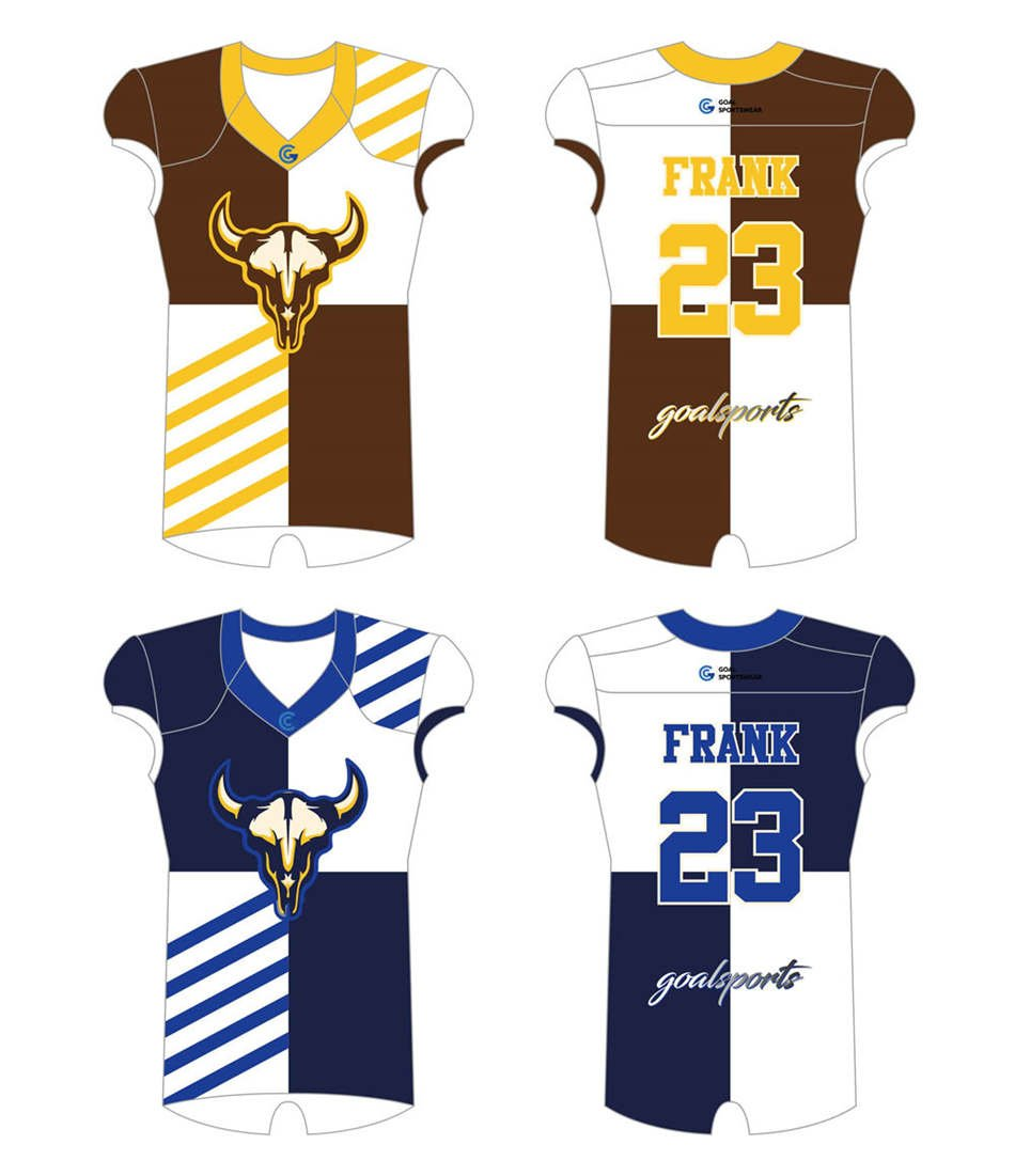 Full polyester Custom made durable mens team Reversible Football Jerseys