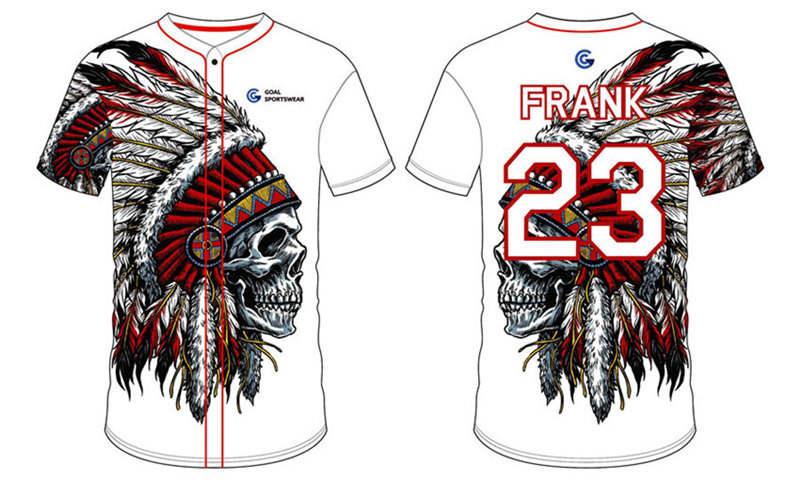 Full polyester Custom made durable mens team custom baseball team shirts
