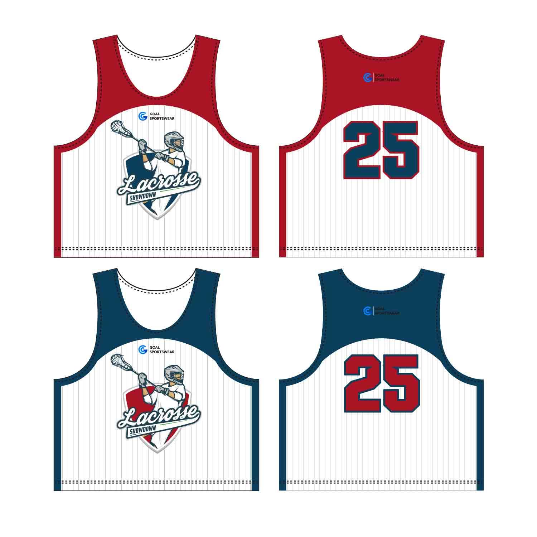 Full Polyester Custom Made Durable Men's Team Custom Lacrosse Pinnies