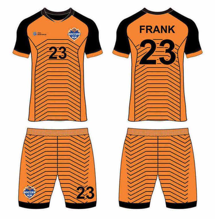 Full polyester Custom made durable mens team custom soccer kits
