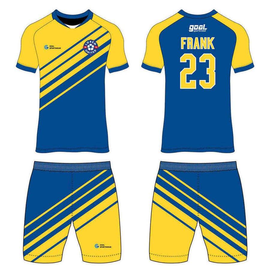 Full polyester Custom made durable mens team custom soccer tops