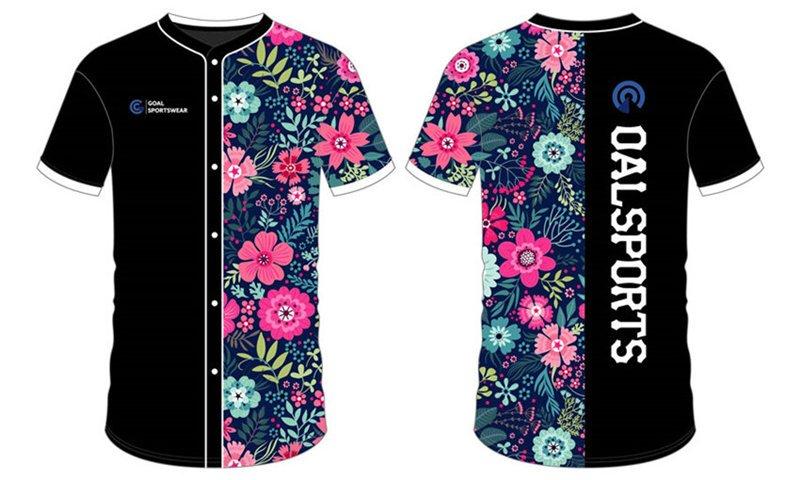 Full polyester Custom made durable mens team custom youth baseball shirts