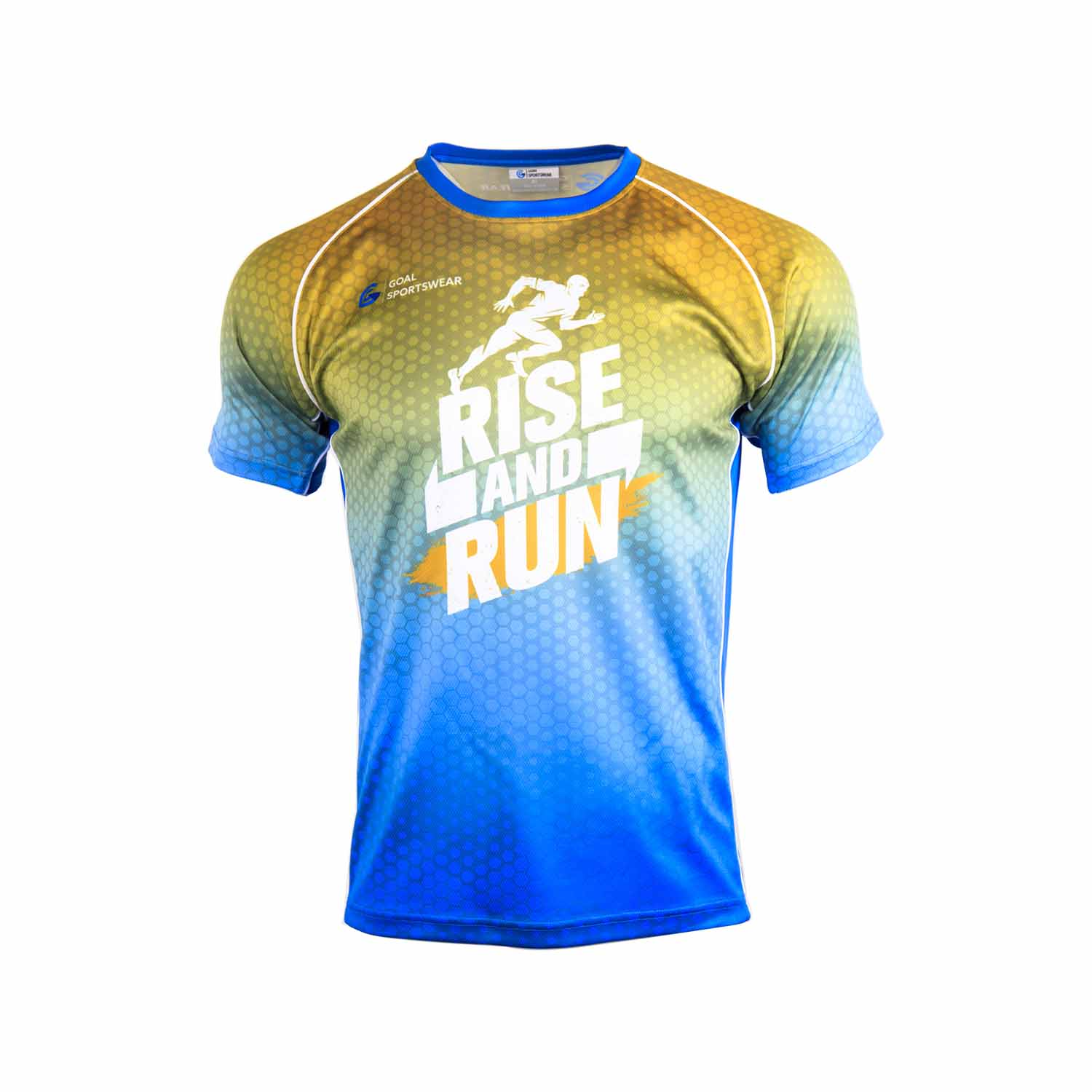 Full polyester Custom made durable mens team sublimated running shirts