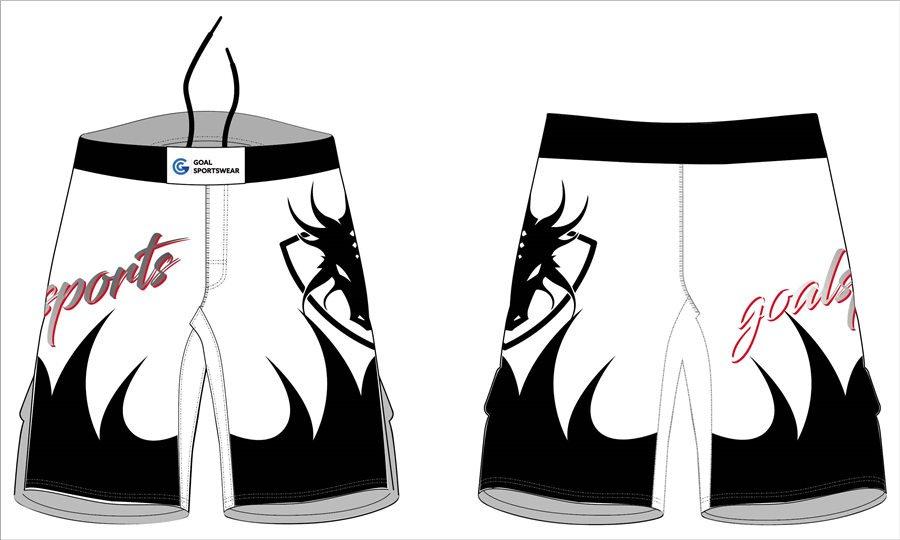 Full polyester Custom made durable mens team wrestling fight shorts