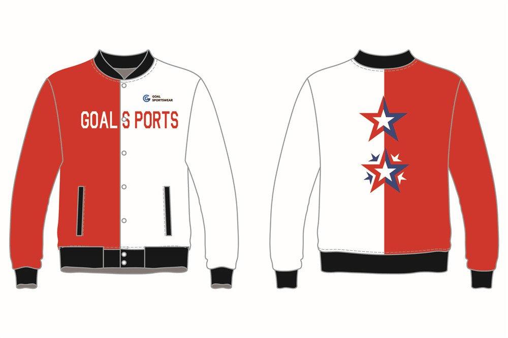 Full polyester breathable custom design sublimated Football Team Jackets