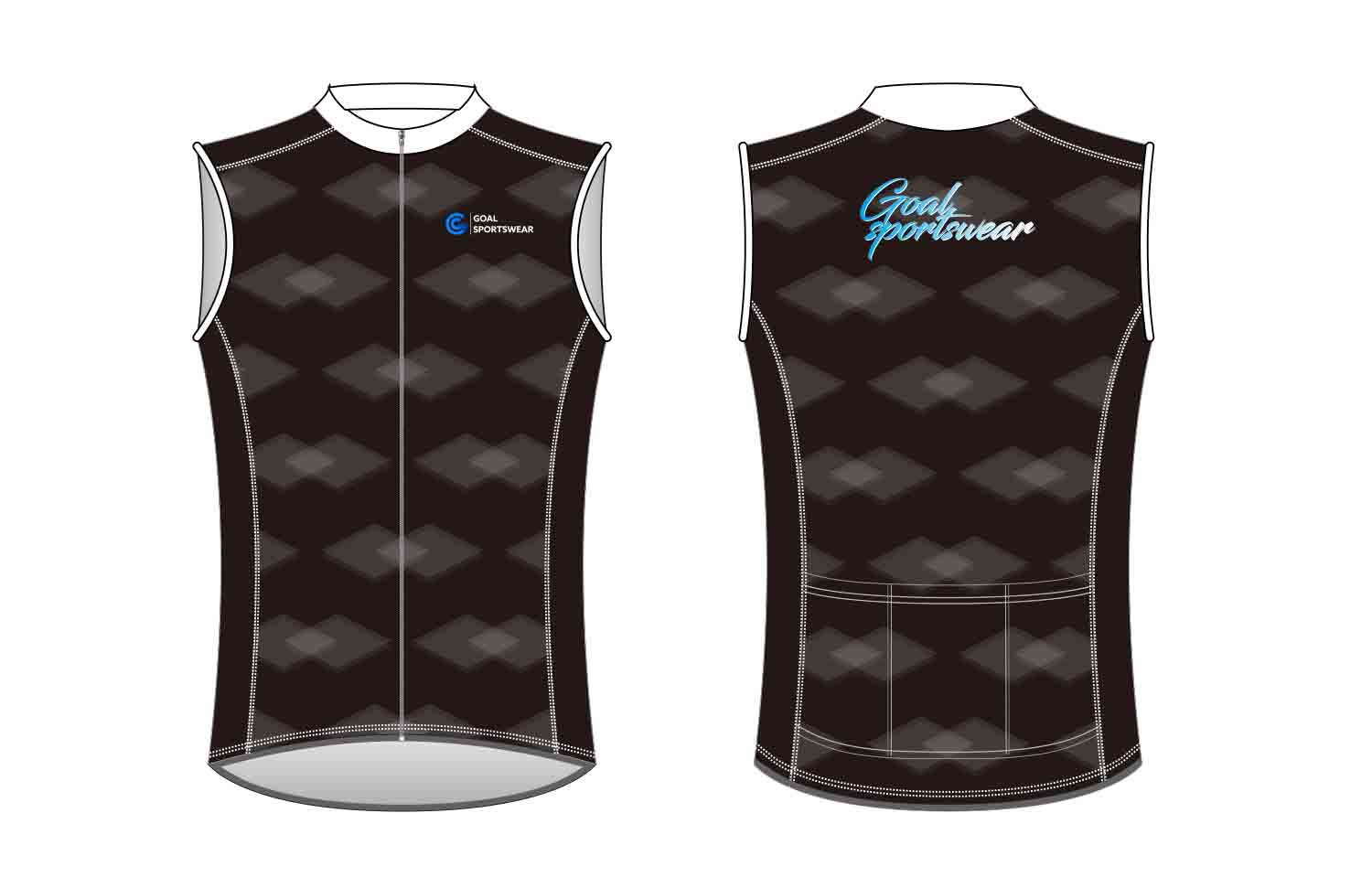 Full polyester breathable custom design sublimated custom Cycling Vest