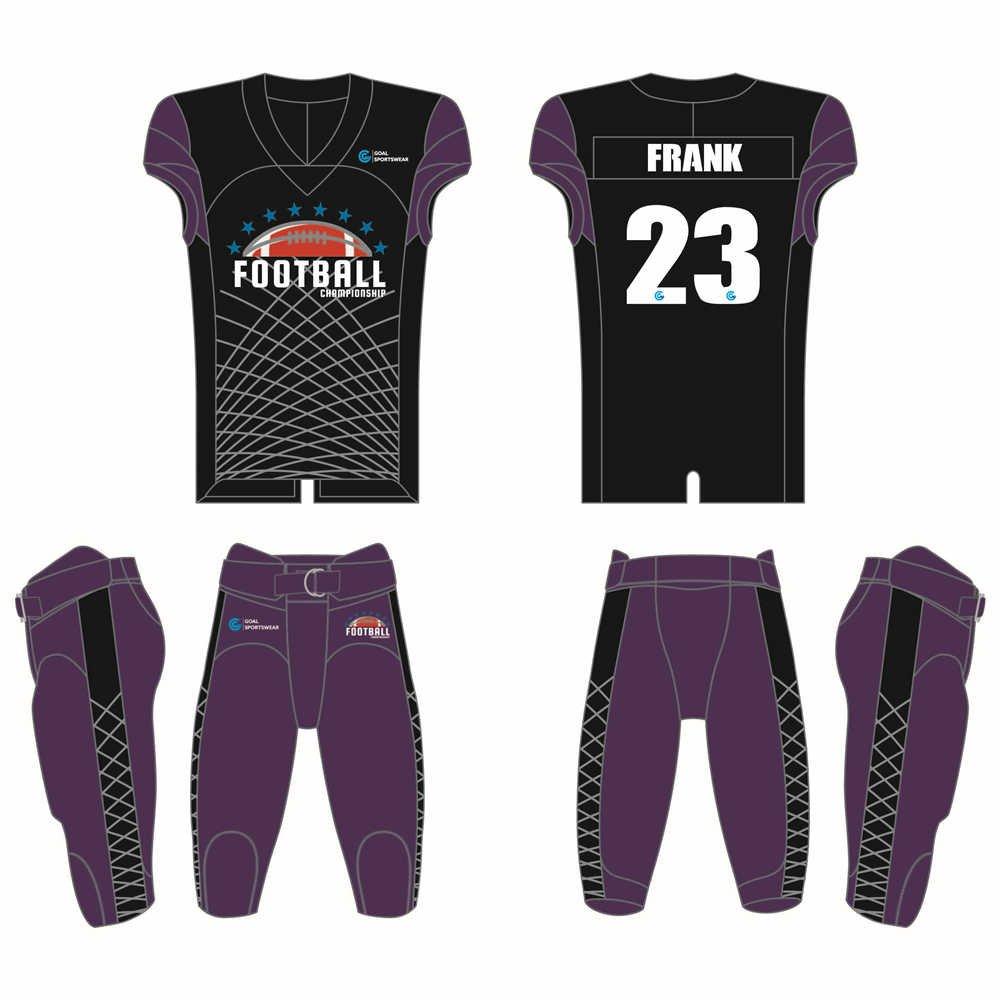 Full polyester breathable custom design sublimated custom football uniforms