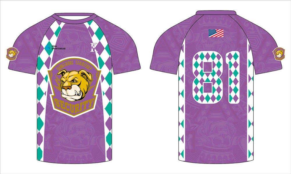 Full polyester breathable custom design sublimated custom lacrosse shirts