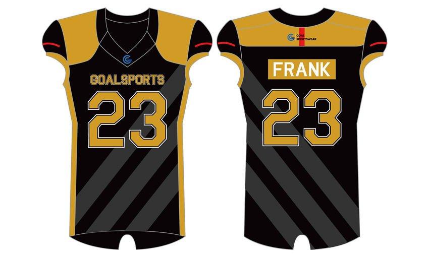 Full polyester breathable custom design sublimated high school football shirts