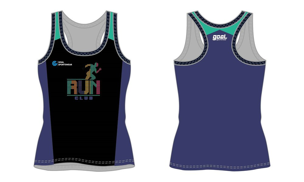 Full polyester breathable custom design sublimated sublimated running shirts