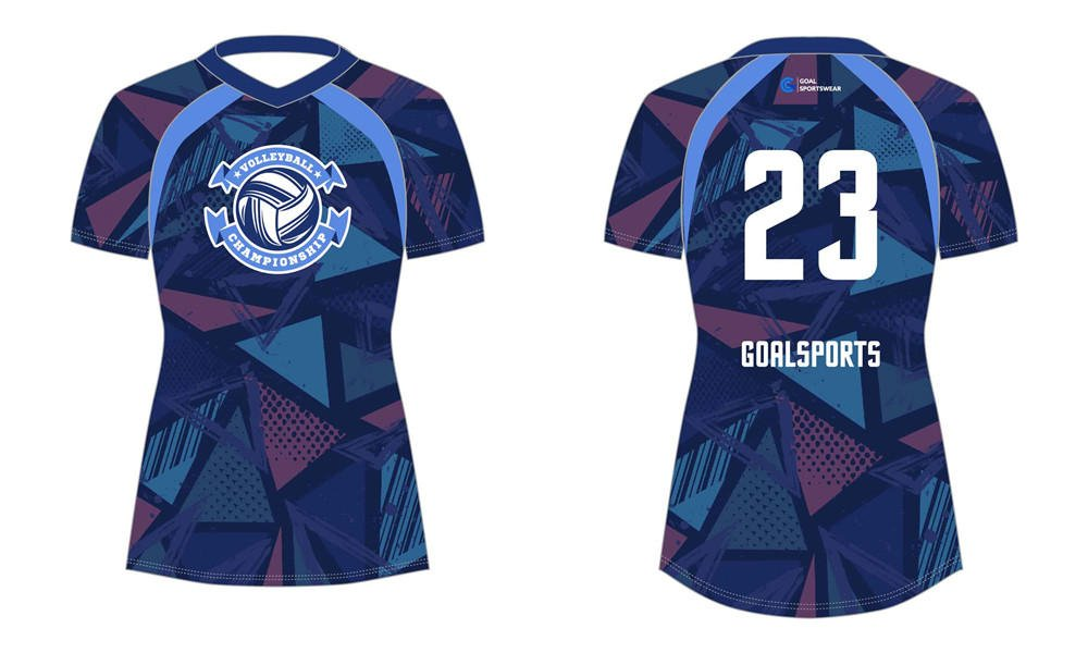 Full polyester breathable custom design sublimated sublimated volleyball jerseys