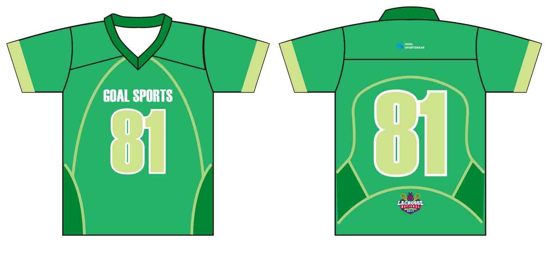 Full polyester durable sublimated custom youth team custom lacrosse shirts