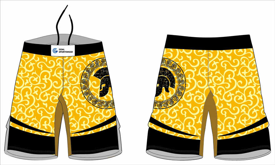 Full polyester durable sublimated custom youth team wrestling fight shorts