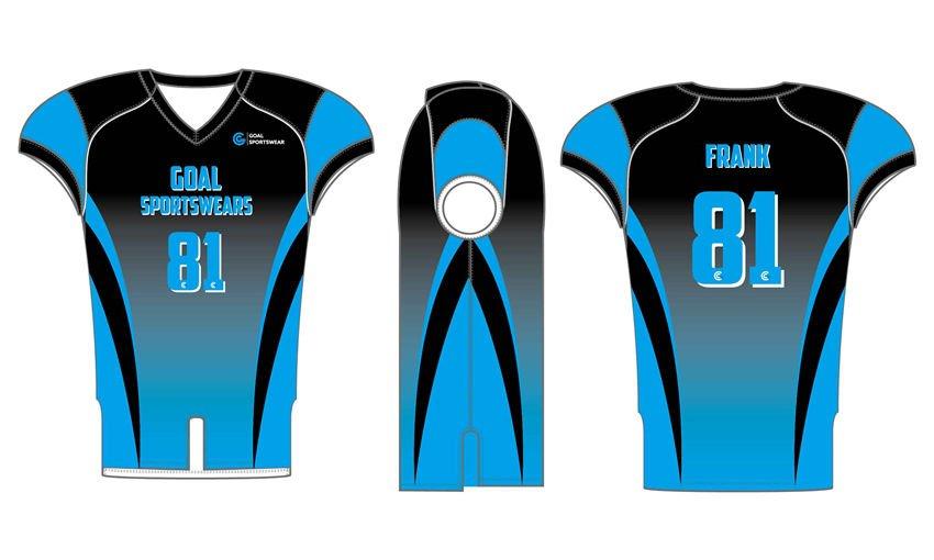 High quality 100% polyester sublimation custom design Sublimated Flag Football Jerseys
