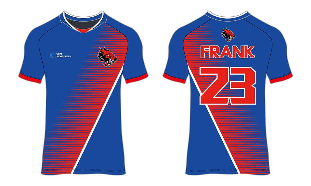 High quality 100% polyester sublimation custom design custom soccer tops