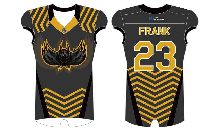 High school custom design sublimated reversible Custom Football Fan Jerseys