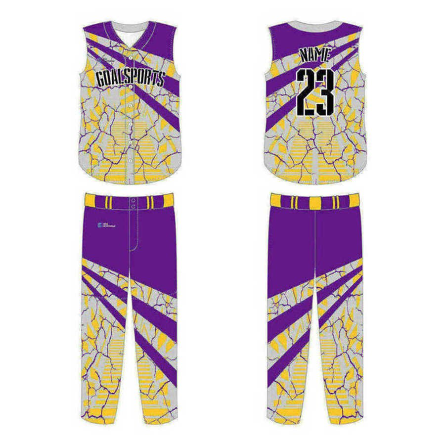 High school custom design sublimated reversible Custom Sleeveless Baseball Jerseys