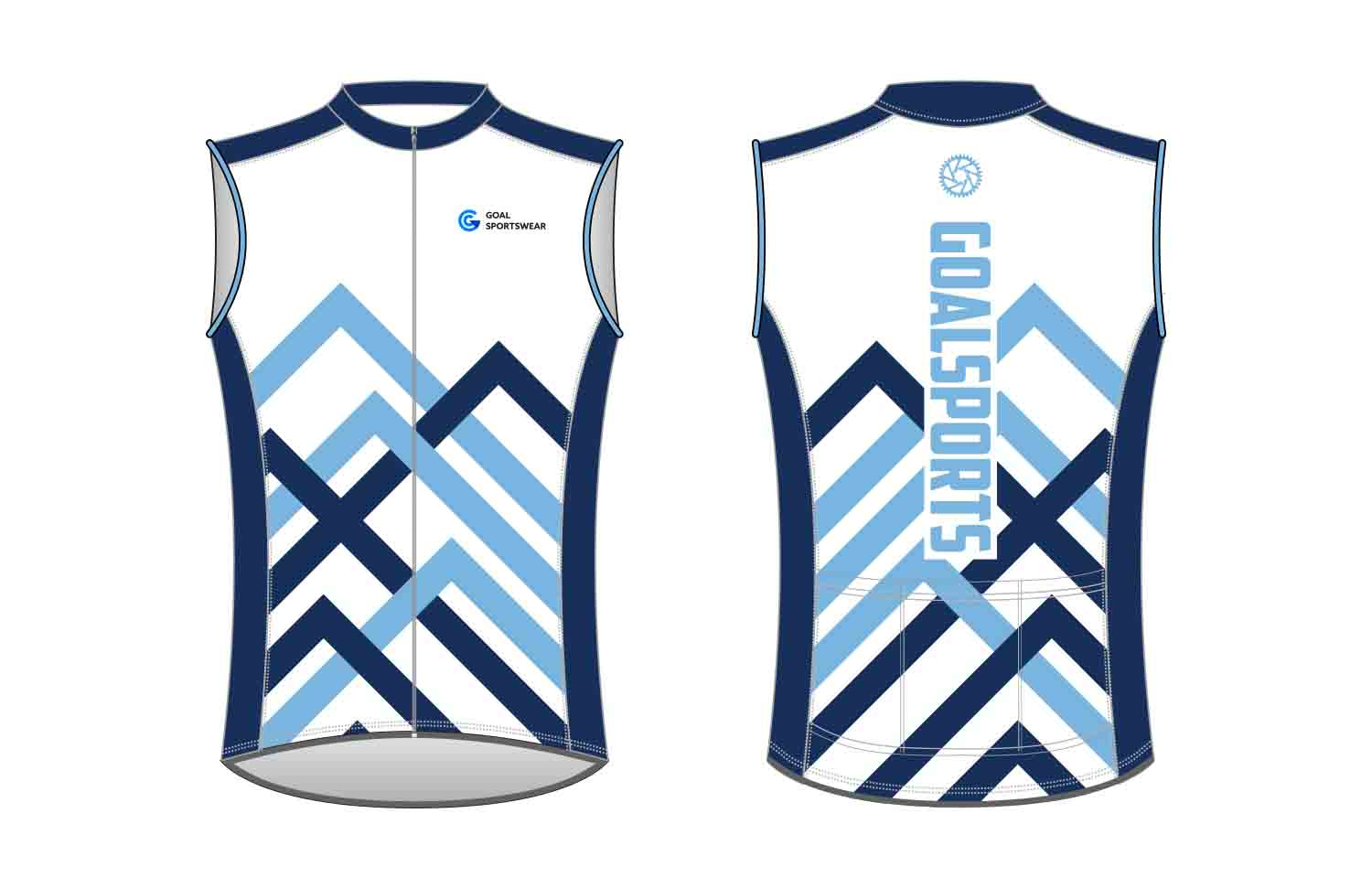 High school custom design sublimated reversible custom Cycling Vest