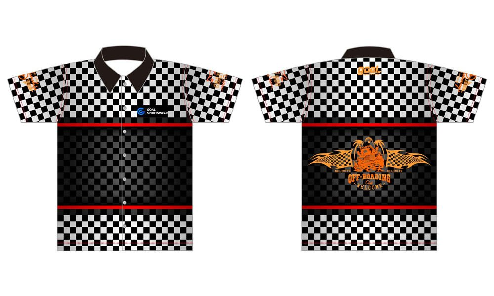 High school custom design sublimated reversible custom pit crew shirts