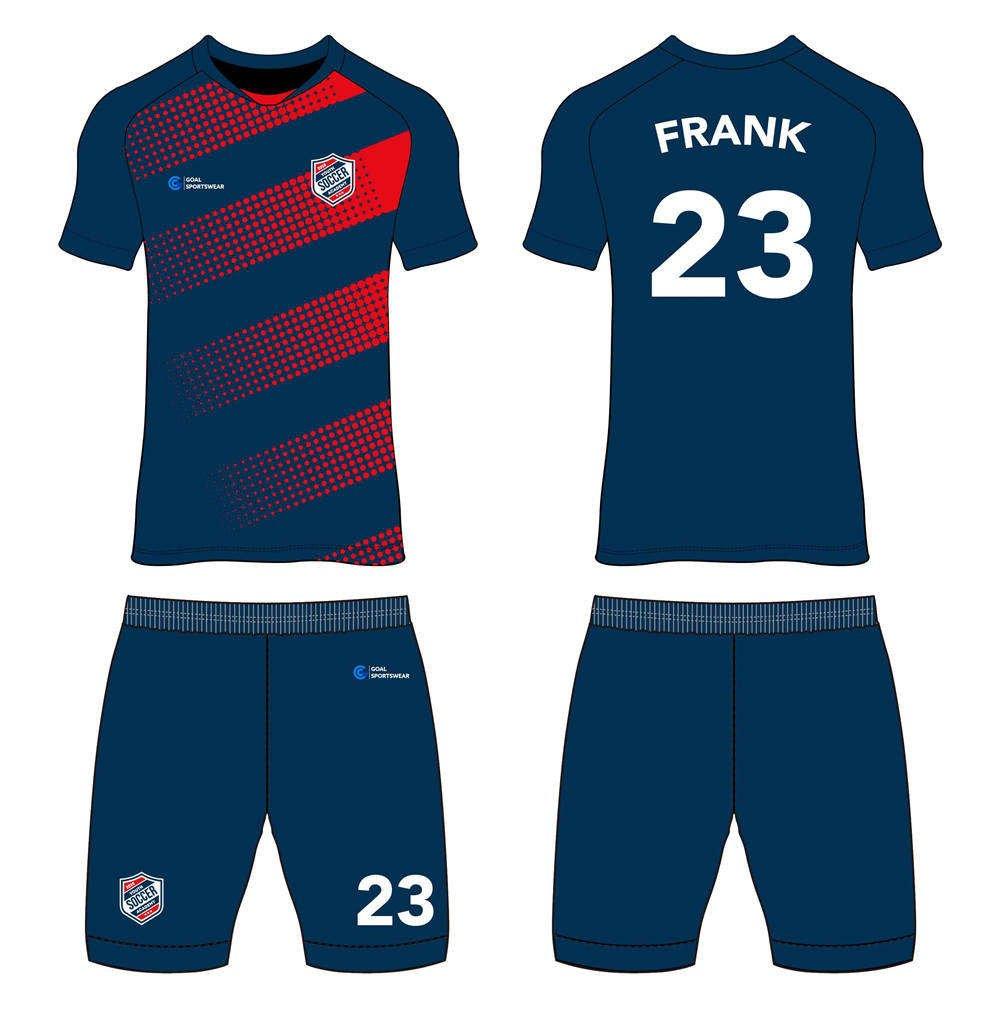 High school custom design sublimated reversible custom soccer kits