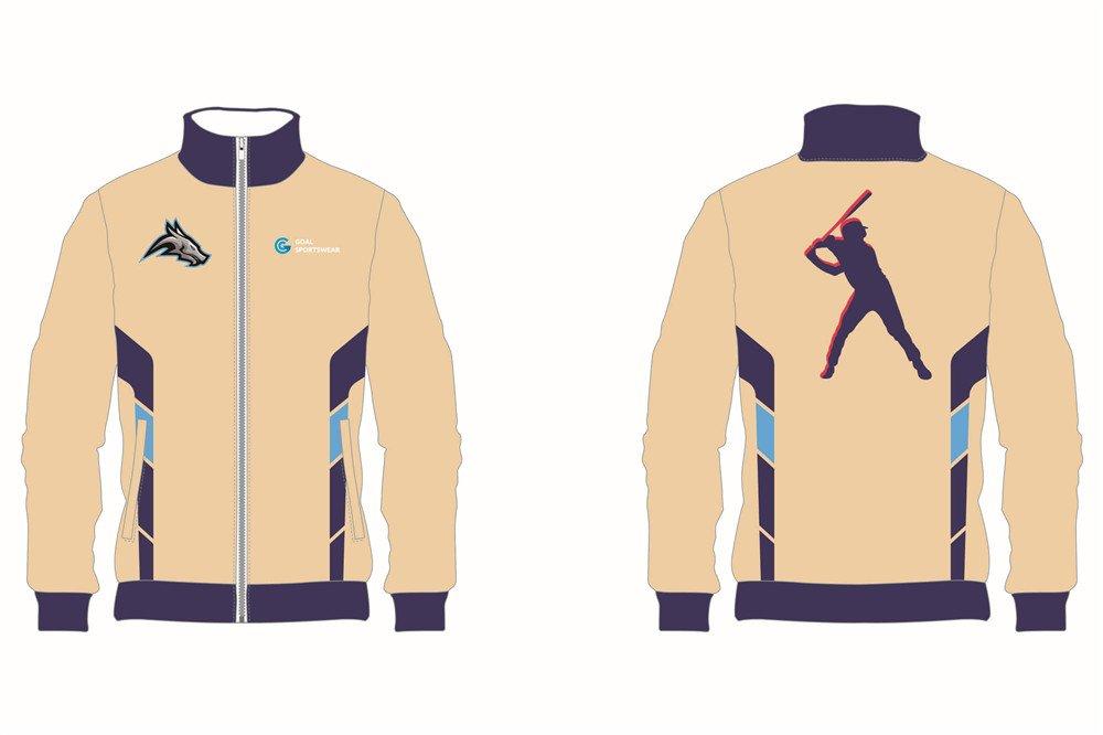 Pro quality sublimation printing custom design team Custom Baseball jackets