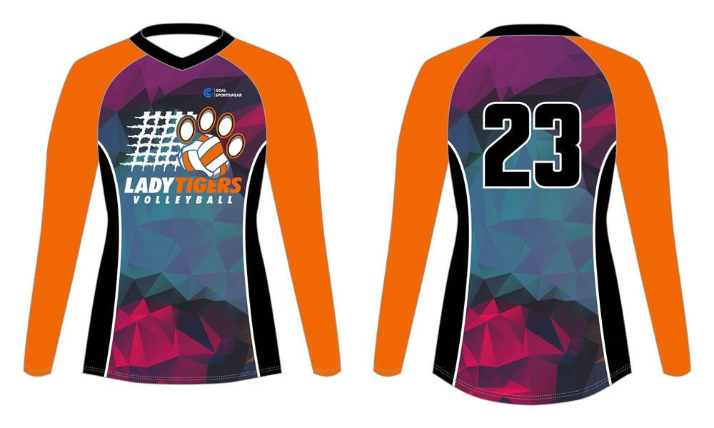 Pro quality sublimation printing custom design team sublimated volleyball jerseys
