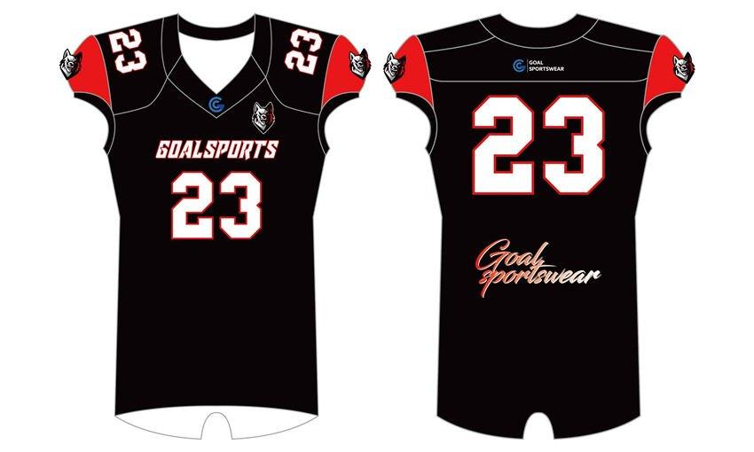 Sublimation high quality custom youth v neck Sublimated Flag Football Jerseys
